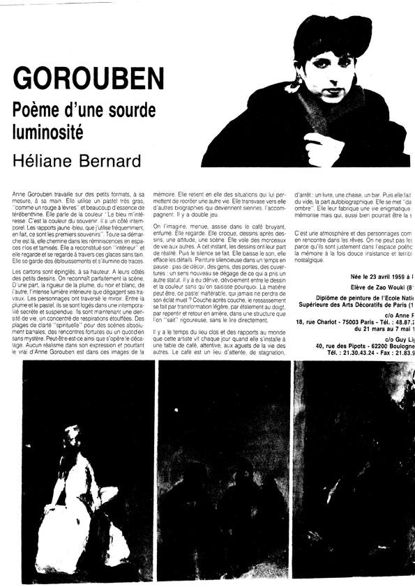 Poème d'une sourde luminosité, d'Héliane Bernard
